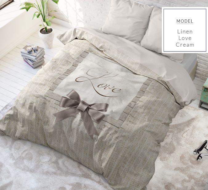 Bavlnené krémové posteľné obliečky 200x220 cm