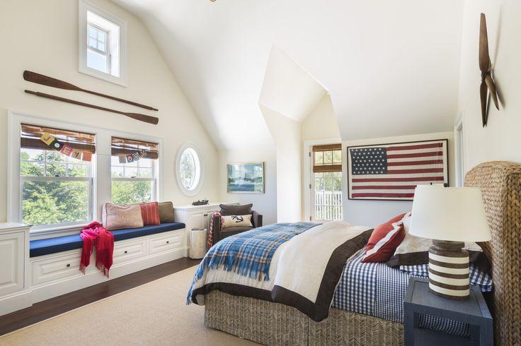 Americana chic in a boys #beachhouse #bedroom @serenaandlily #coastal Kate Jackson Design