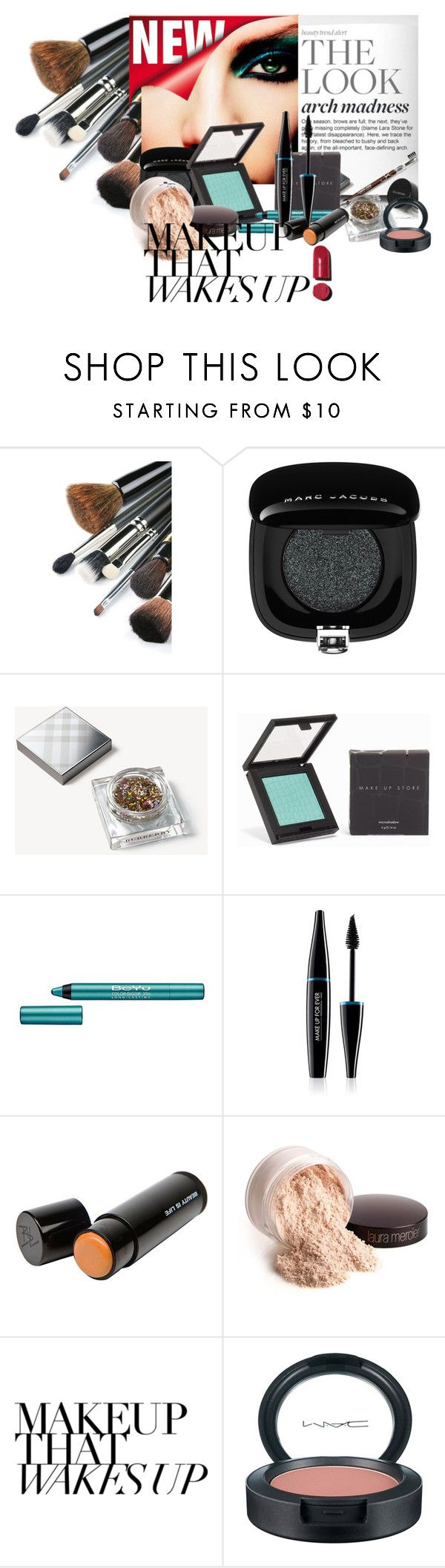 """Make up"" by mljilina ❤ liked on Polyvore featuring beauty, Marc Jacobs, Burberry, MAKE UP STORE, BeYu, MAKE UP FOR EVER, Beauty Is Life, Laura Mercier, MAC Cosmetics and Chanel"