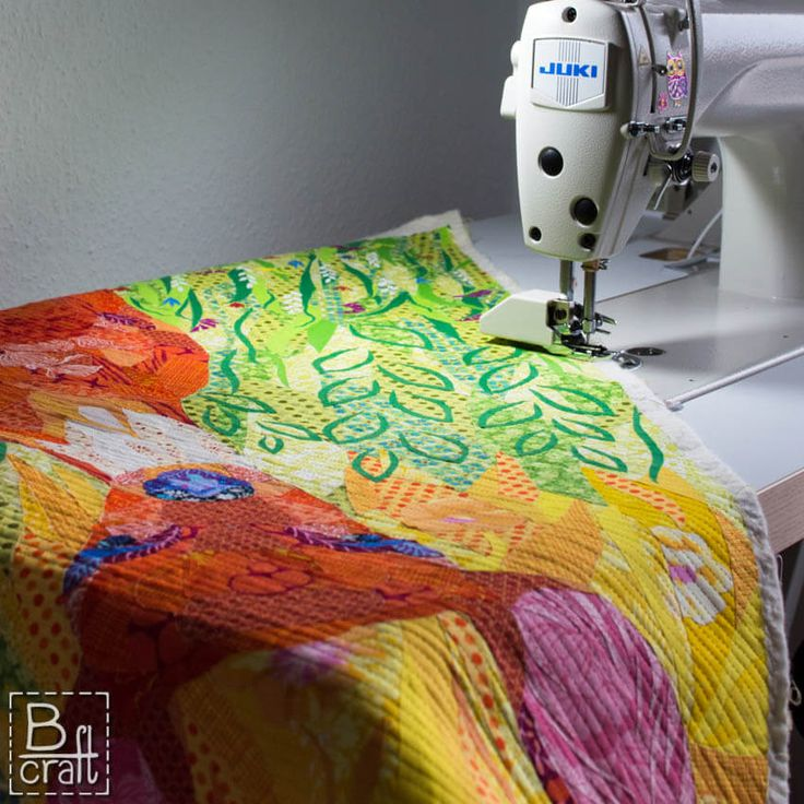 Quilting with walking foot on my Juki DDL 8700.