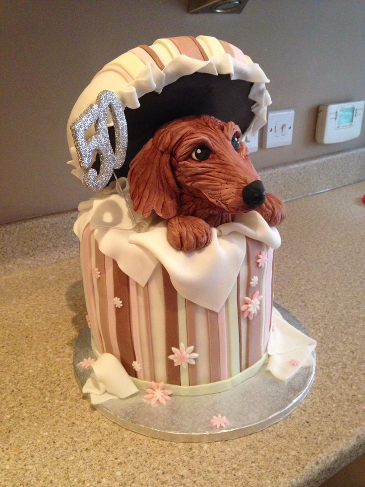 I need this but with my #Chihuahua on it.  ## Miniature Daschund birthday cake
