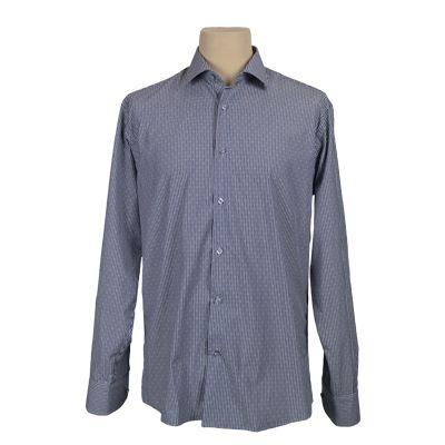 Camicia vestibilita' regolare fantasia - Rigata blu - Invernale GIODI'S. € 37,00. #hallofbrands #hob #camicia #shirt