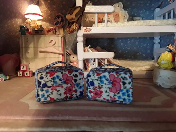 dollhouse suitcase set of 2scale 1:12 dollhouse