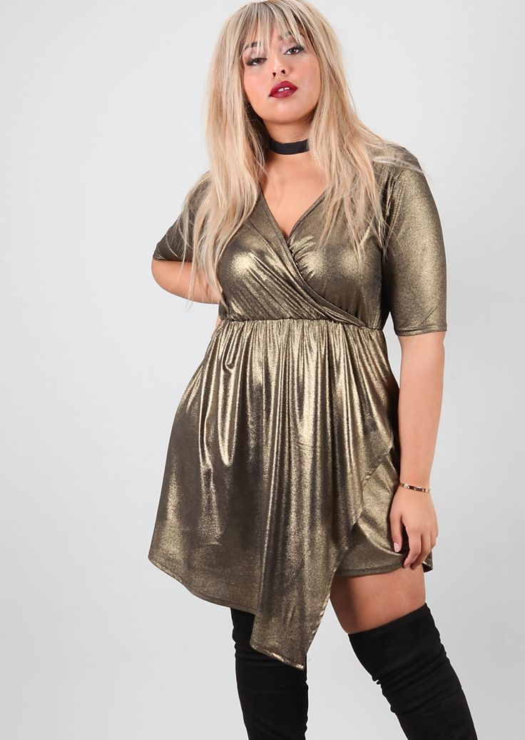 Plus Kim K Skort Metallic Playsuit
