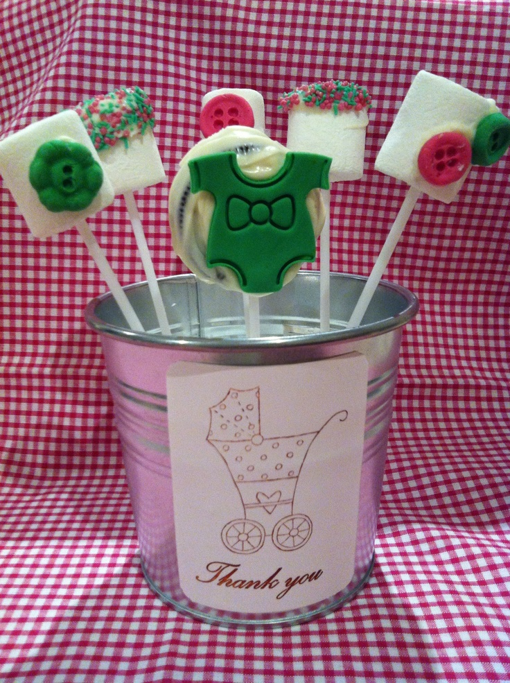 Oreo pops and marshmallow pops centerpiece