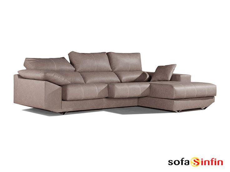 Sofassinfin.es Sofá 3 y 2 plazas con chaise-longue modelo Greco fabricado por Gamamobel.