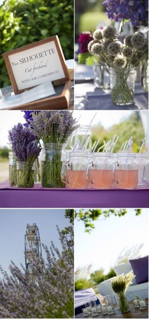 Shepherd Hooks Mason Jars | shepherds hooks with either tiny flower vases or the mason jars to ...