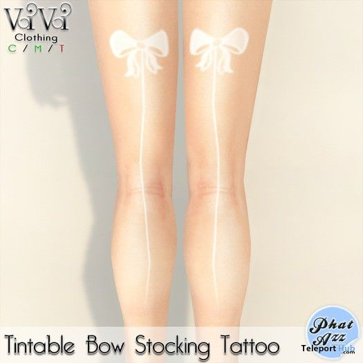 Tintable Bow Stocking Tattoo and Phat Azz Applier by ViVi