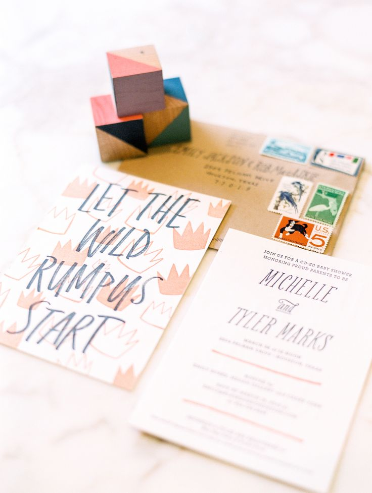 """""""Where the Wild Things Are"""" baby shower invitation"""