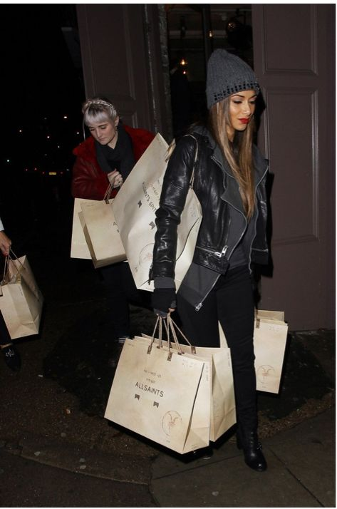 Evening AllSaints shopping. Nicole is living the dream