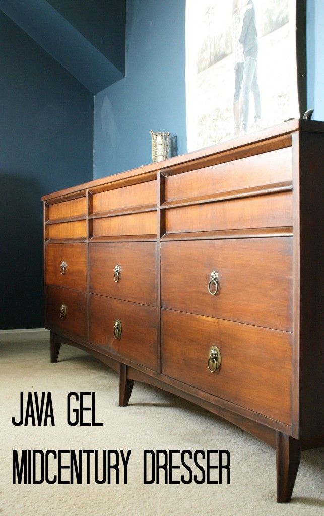 Java Gel Midcentury Dresser with Lion Head pulls