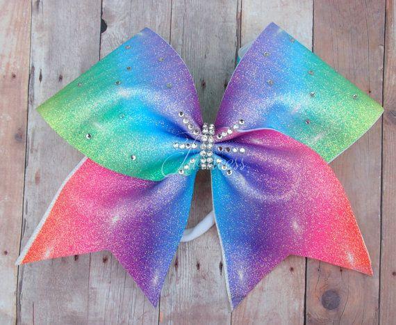 Rainbow Cheer Bow