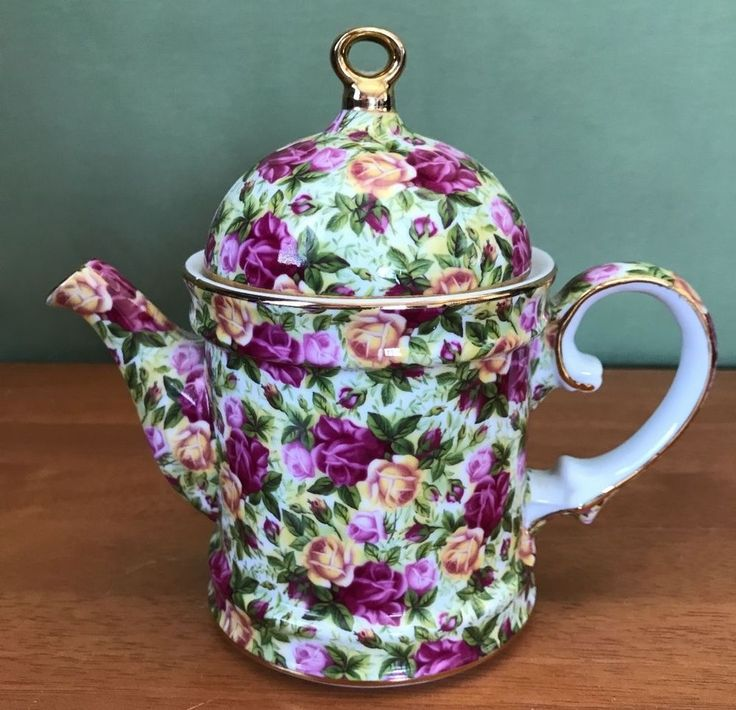 Contemporary Royal Staffordshire roses teapot - Chintz China Tea Pot