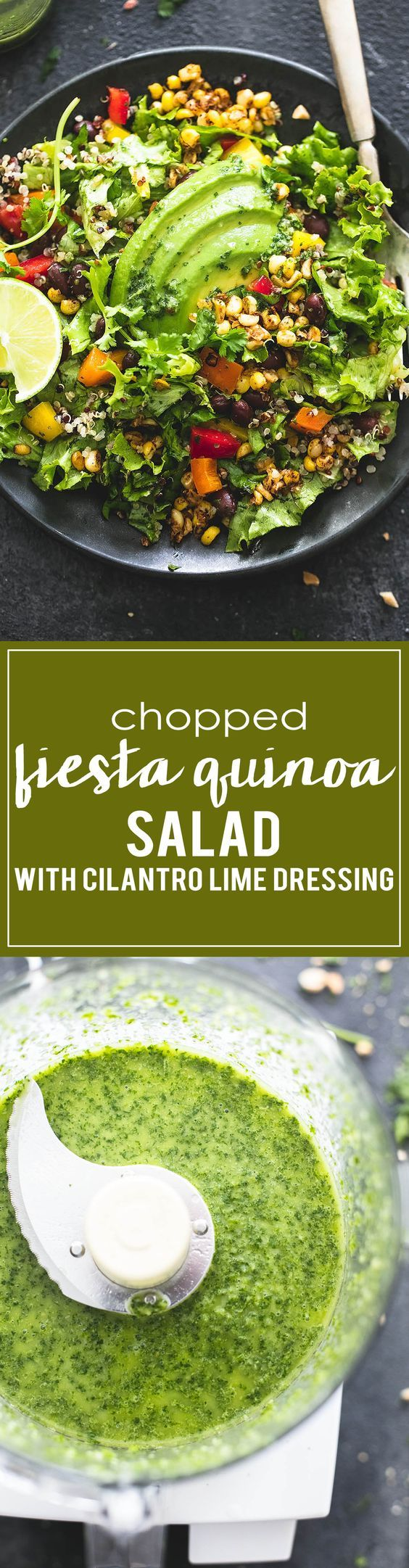 Chopped Fiesta Quinoa Salad with Cilantro Lime Dressing