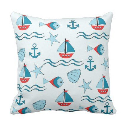 landlord nautical throw pillow - #customizable create your own personalize diy