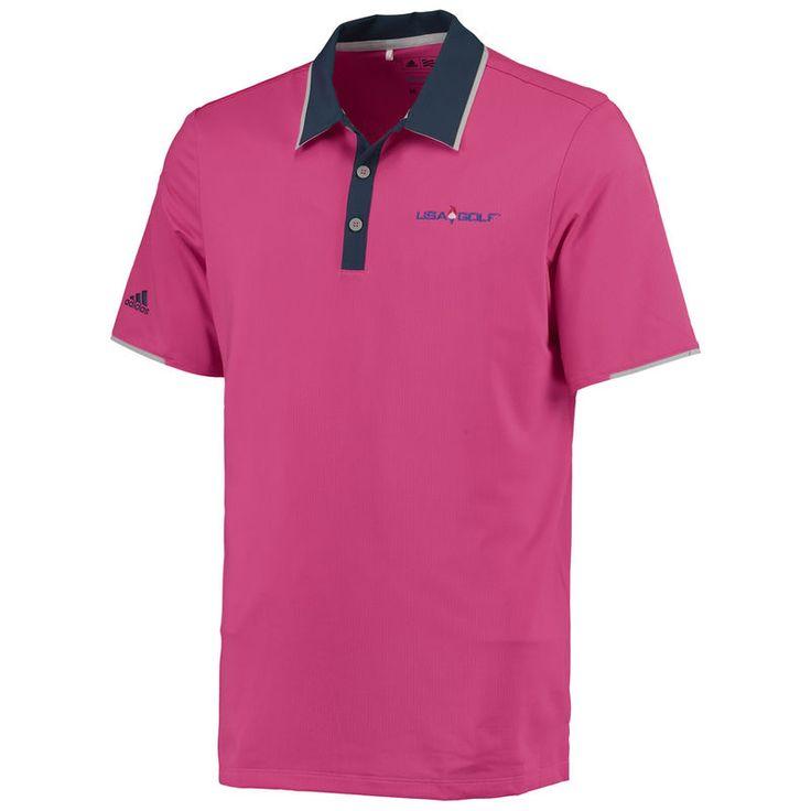 adidas USA Golf Performance climacool Polo - Pink/Navy