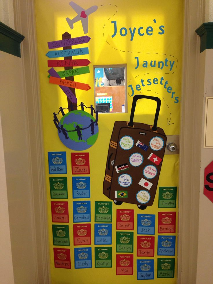 Boostersthon big world recess door Decor globe suitcase passports & 115 best Travel Themed Classroom images on Pinterest | School ... Pezcame.Com
