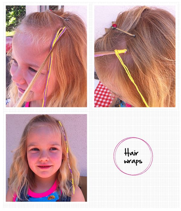 #diy hair wraps, zomerhaar