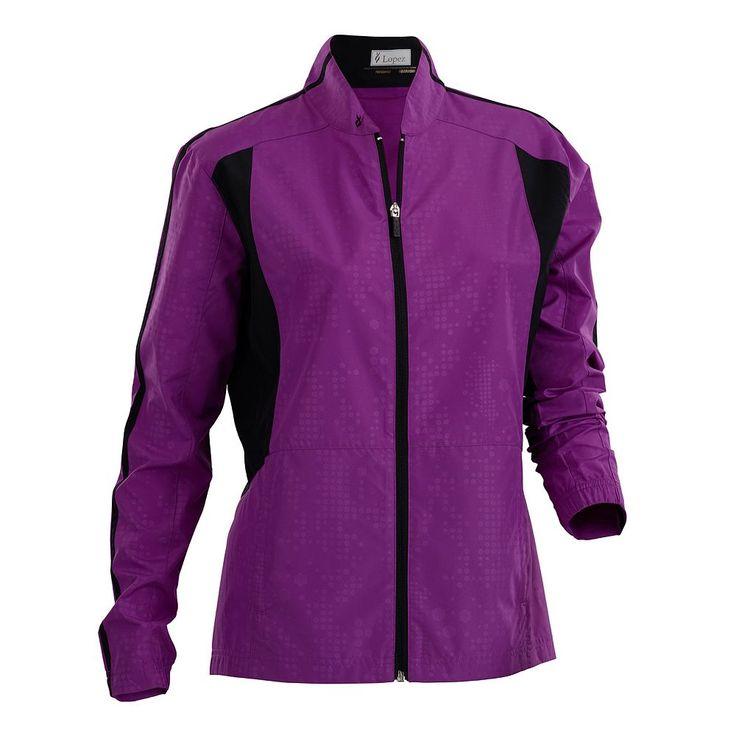 Women's Nancy Lopez Primo Golf Jacket, Size: Medium, Purple