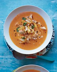 Silky Tortilla Soup - enriched with butter, not tortillas