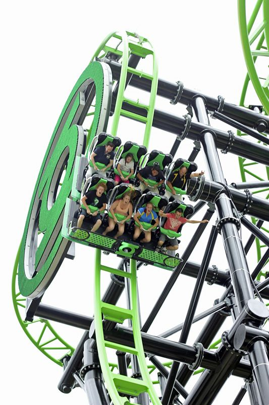Green Lantern Coaster | Warner Bros. Movie World | Australia