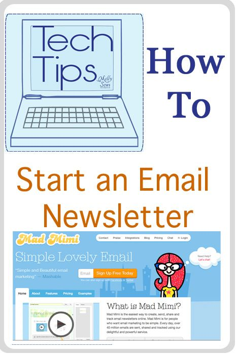 Tech Tips - How to Start an Email Newsletter - Melly Sews