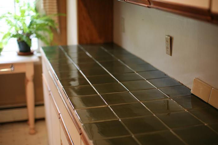 azulejo rustico en barra de cocina deco pinterest