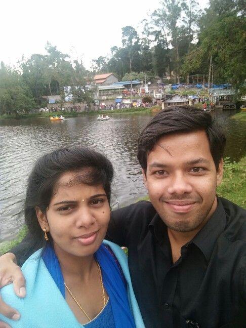 Sushma and me - 19th July 2015 Kodaikanal lake