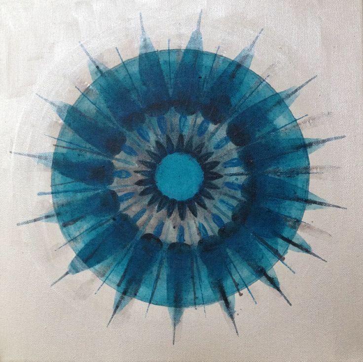 Mandala painting 30x30 cm www.rannveighelgadottir.com