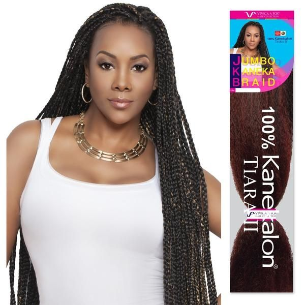 45 Jumbo Braid 100 Kanekalon Fiber Jkb V Crochet Braiding Hair By Vivica A Fox Braids For Short Hair Braided Hairstyles Short Hair Tutorial