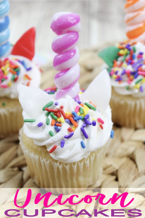 Easy Unicorn Cupcakes With Edible Unicorn Horn Cupcake Toppers Try