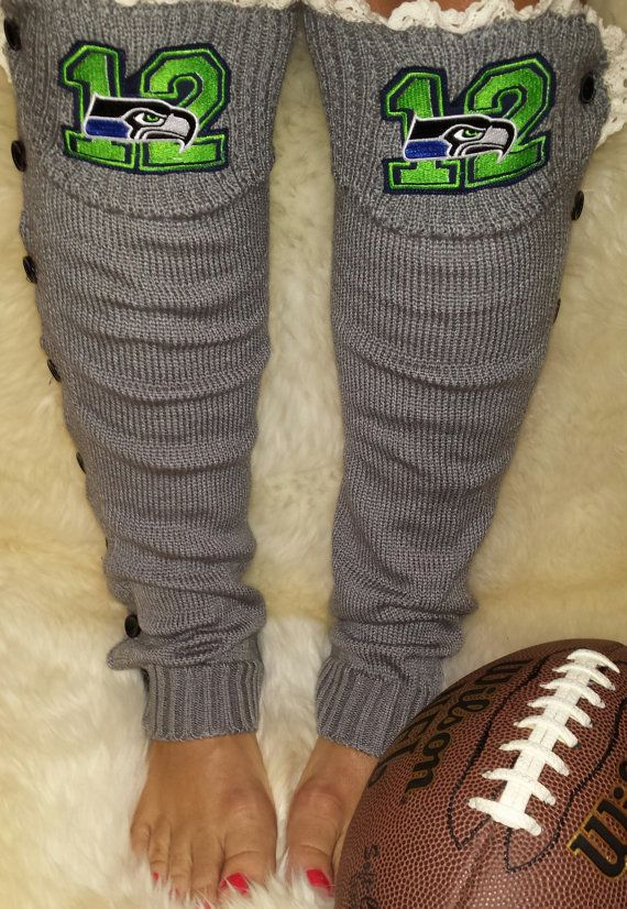 Hey, I found this really awesome Etsy listing at https://www.etsy.com/listing/203456315/seahawks-leg-warmers-lace-top-and-button