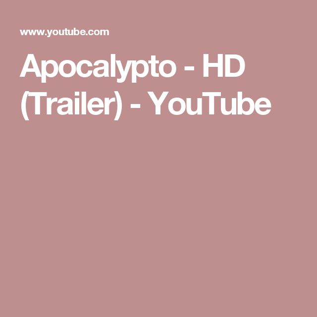 Apocalypto - HD (Trailer) - YouTube