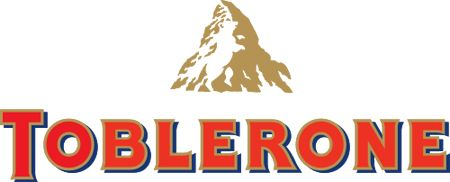 """Logo with a hidden message - The famous Swiss chocolate brand features the Matterhorn, Switzerland most famous mountain. What fewer people know, is that you can see a bear inside the white space of the mountain. The bear is the animal that represent the """"canton"""" of Bern, where Toblerone comes from."""