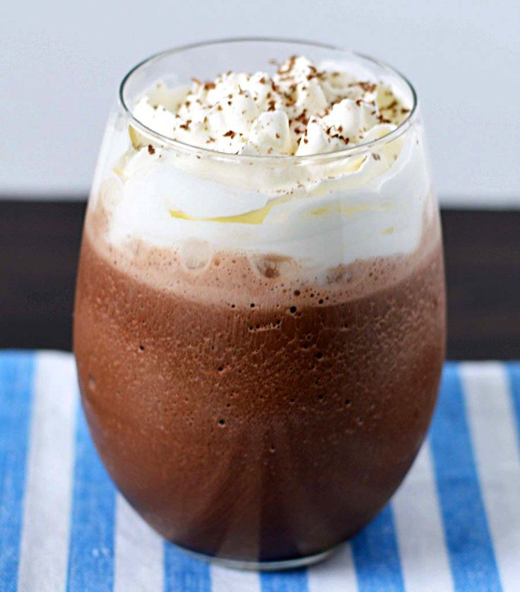 Frozen hot chocolate tastes just like the coffee shop!
