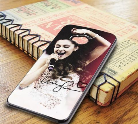 Ariana Grande Singer Red Pink HTC One M7 Case