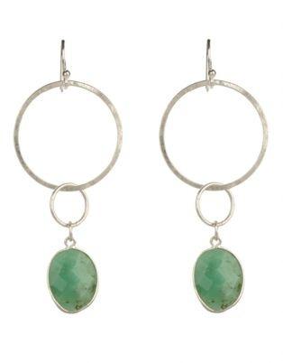 Janine Binneman Gold-Plated Double Hoop Drop Earring Green ~ Culinary Tactics Suggest s You Look @ Jewelery By Janine Binneman ~ We Luv It ~  Design on hellopretty.co.za