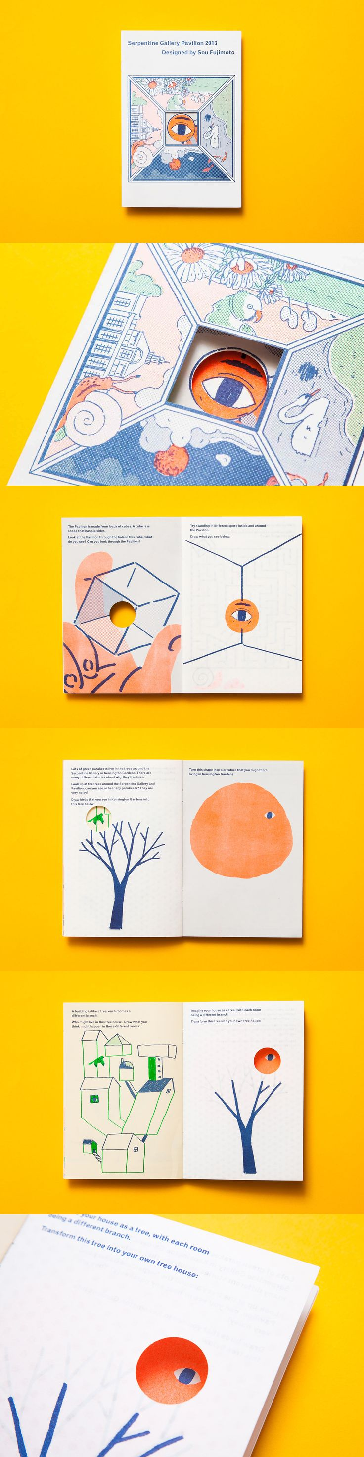 Serpentine Gallery pavillion artpack 2013, by Studio Hato with illustrations by Mak Ying Ping