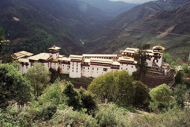 Dzong (Festung) von Trongsa ◆Bhutan – Wikipedia http://de.wikipedia.org/wiki/Bhutan #Bhutan