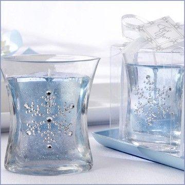 Snowflake Gel Candle Wedding Favors