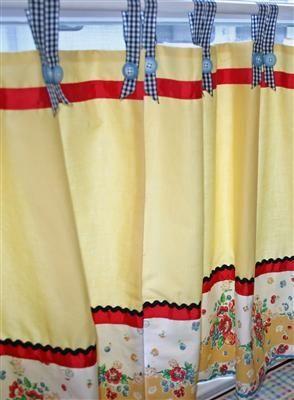 Retro Kitchen Curtains | Vintage Kitchen Curtains | ~Kitchen Love~