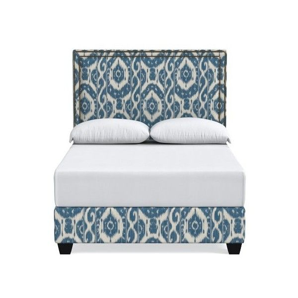 Williams-Sonoma Gramercy Bed (17,205 CAD) ❤ liked on Polyvore featuring home, furniture, beds, california king bed, california king bed headboard, platform bed, cal king size bed and king size headboard