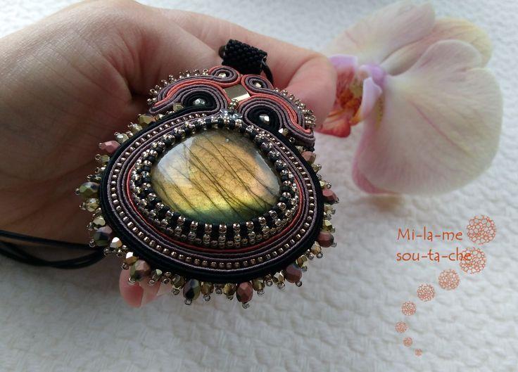 soutache pendant - design by Mab - Magdalena Bielska