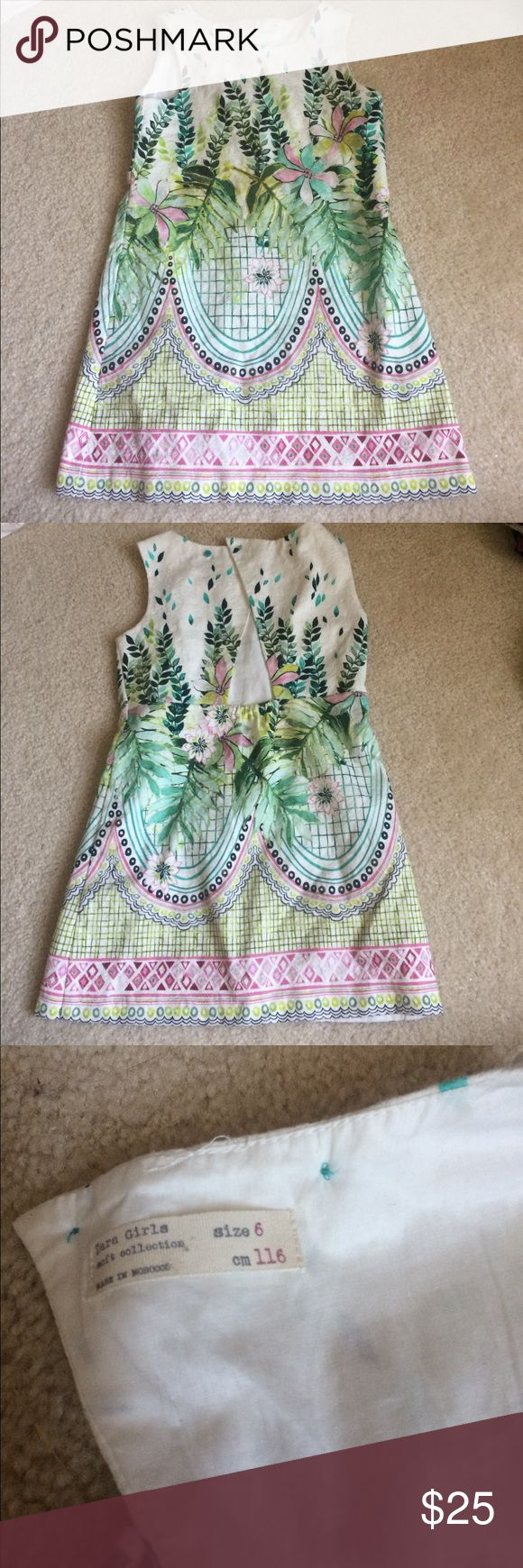 ADORABLE Zara Girls Dress Love love love this dress just too short on my daughter. Zara Dresses