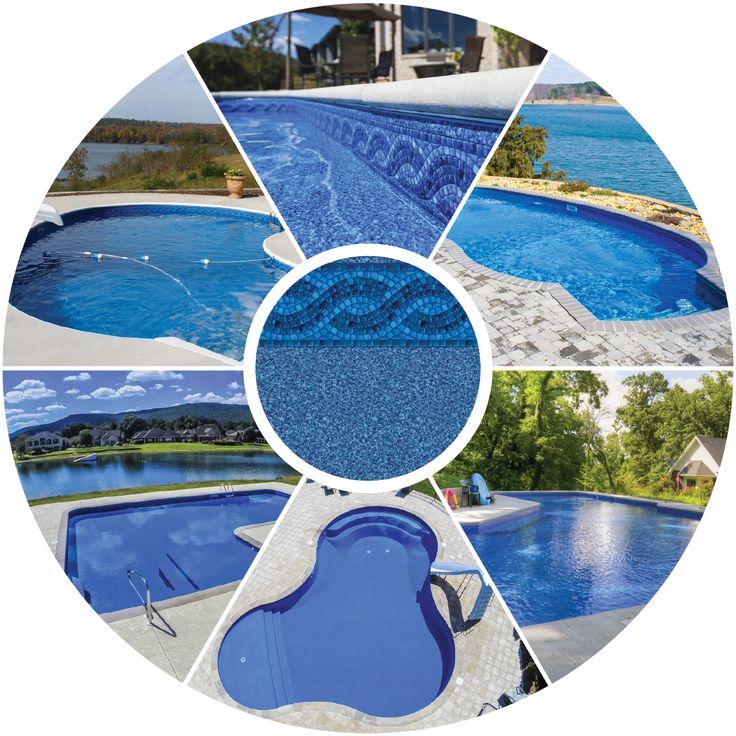 17 meilleures id es propos de couleur liner piscine sur for Blue water parts piscine