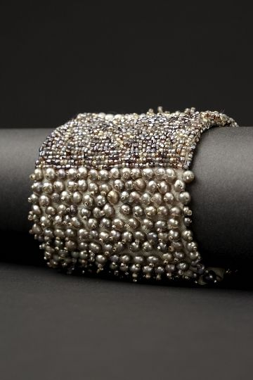 """Bling! Couture Cuff from the """"Armilla"""" collection by LA-based jewelry designer Andrea Gutierrez. via the designer's site"""
