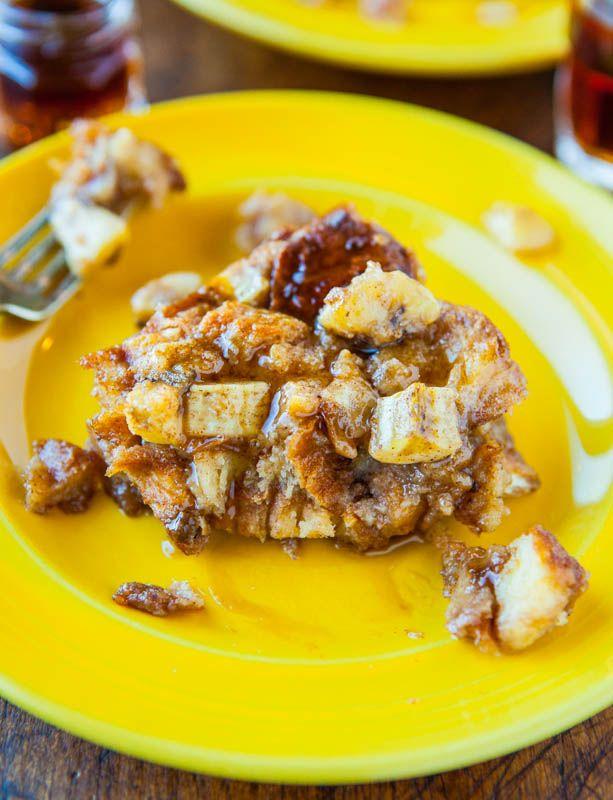 Hawaiian Bread and Maple Banana Baked French Toast