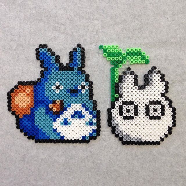 Totoro hama beads by evichuchan