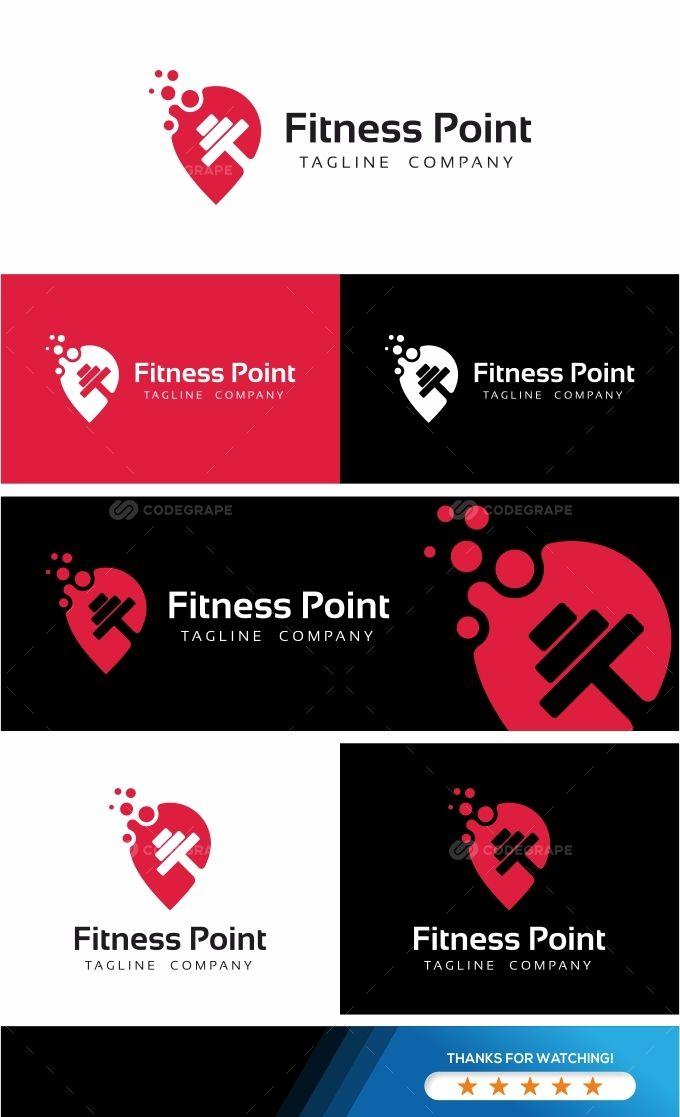Fitness Point Logo Logo Design Logo Business Design