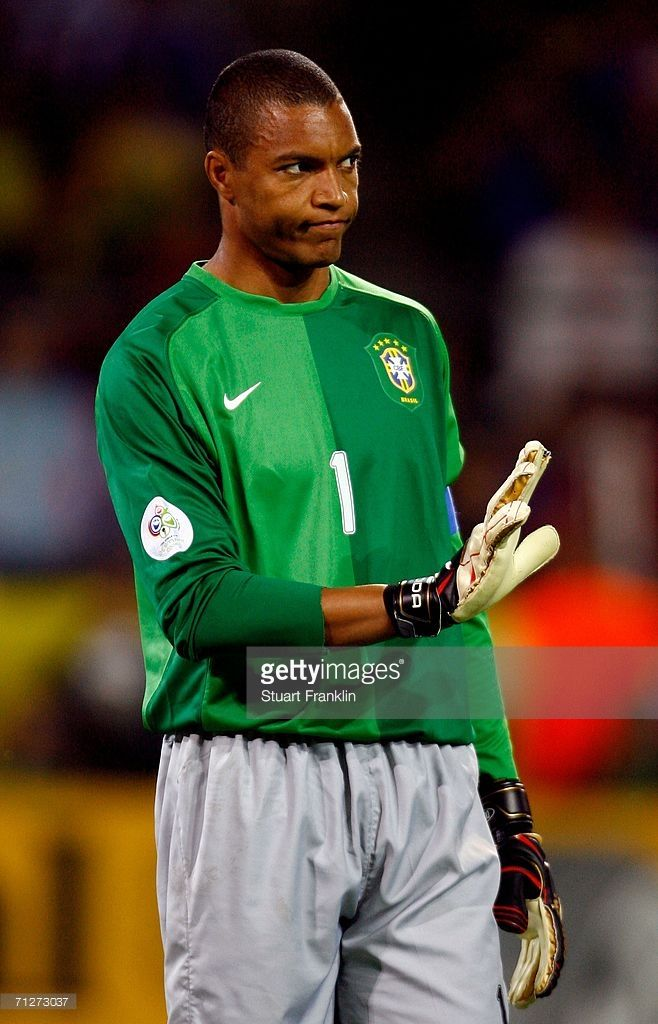 Goalkeeper Dida of Brazil looks on during the FIFA World Cup Germany 2006 Group F match between Japan and Brazil at the Stadium Dortmund on June 22, 2006 in Dortmund, Germany.